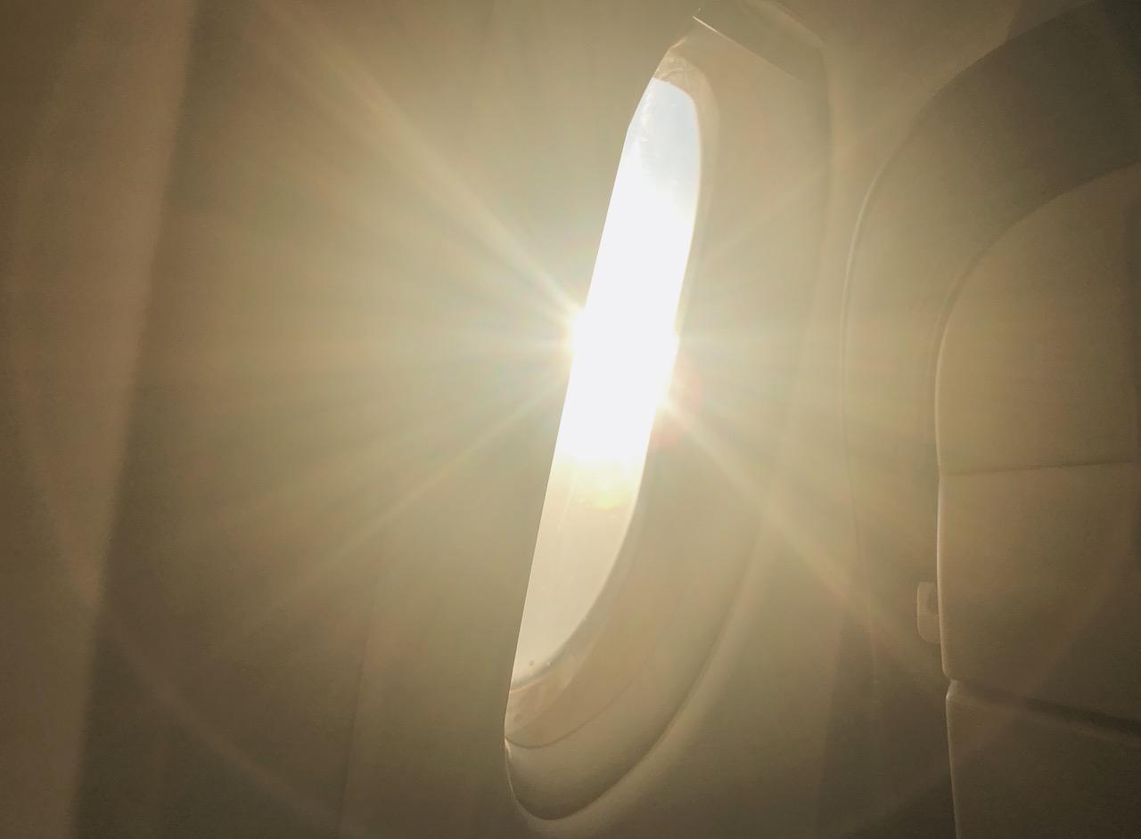 Flugzeug Sonnenuntergang Swiss