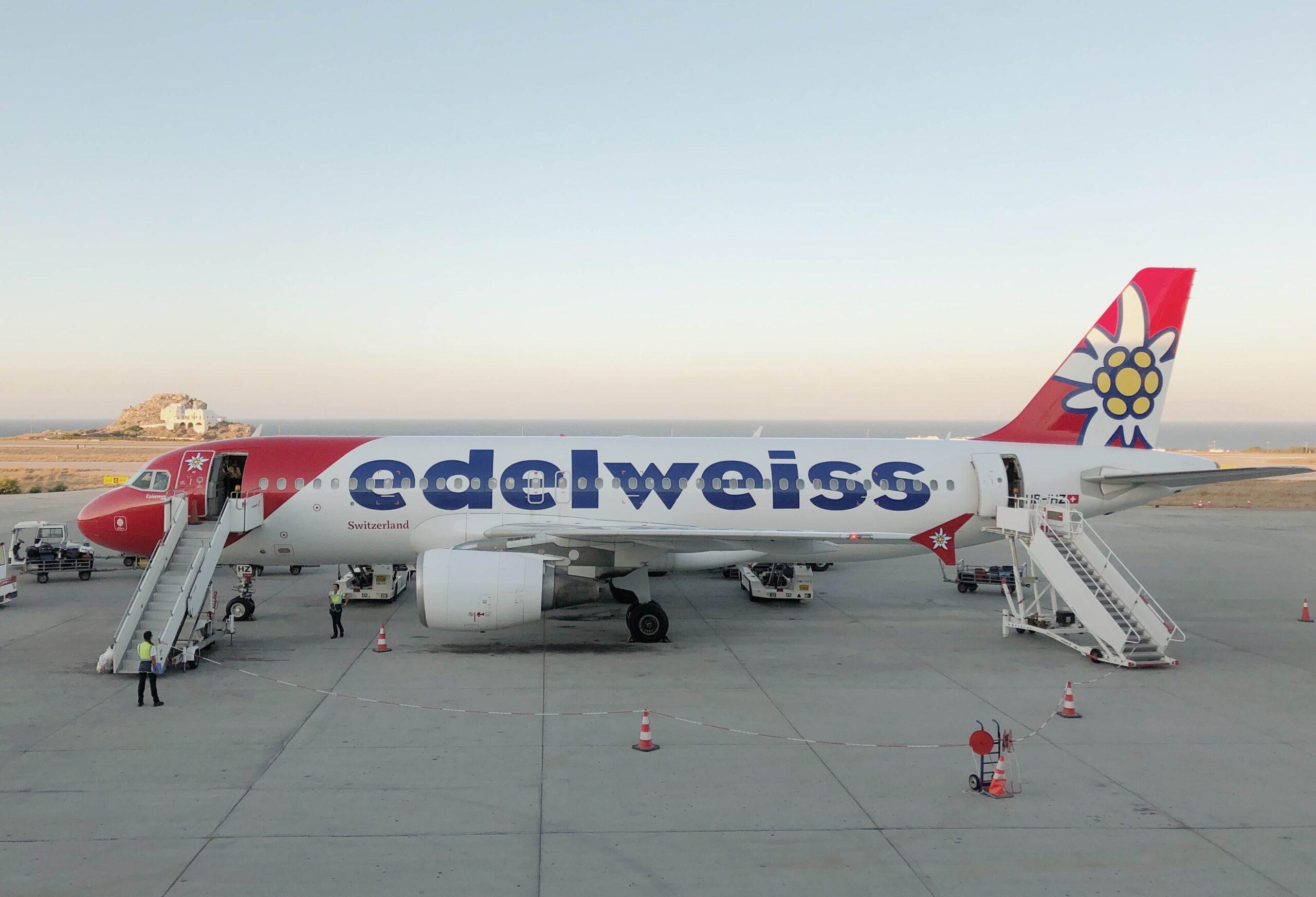 Edelweiss Flugzeug Reisen nach Lockdown
