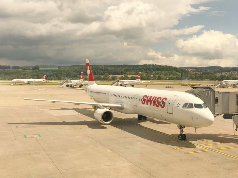 Flughafen Zürich Swiss Reisen nach Lockdown